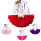 Baby Girl 1st First Birthday Party Tutu Outfit Romper Sets C