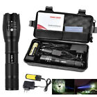 10000-15000LM Tactical LED Torch Light Flashlight Lamp Charger 18650 Battery Set