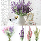 Artificial Silk Floral Flower Lavender Bouquet For Home Wedding Garden Decor *uk