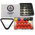 Snooker Balls & Ball Tray & Triangle Rack Set - 2 Inch & 2-1/16 Inch Available $48.44 AUD on eBay
