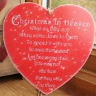 HANDMADE plaque - Christmas in heaven, save them a seat, chair, home - OPTIONS