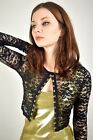 Black Lace Hook and Eye Sweater S M L XL 2XL long sleeve crop top gothic goth