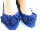 ROYAL BLUE WOMEN FLAT SUEDE SHOES SIZE :8.5,9