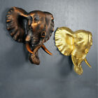 Vintage Wall Mounted Resin Sculpture Elephant Ornament Hanging Statue Art Decor