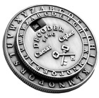 Secret Decoder Ring - Caesar Cipher Medallion (Little Orphan Annie Style)