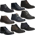 NEW Mens Ankle Boots Winter Lace Up Leather Shoes Sizes