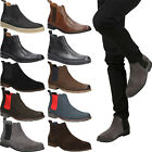 Mens Boots LEATHER Winter Shoes Sizes Slip On Ankle Boots Smart Casual Windssor