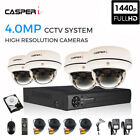 5 IN 1 CCTV Dome Camera System Kit with 4CH HD DVR, 4.0MP 4 Cameras & 1/2 TB HDD