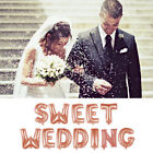 """16"""" Self Inflating Sweet Wedding Letter Foil Alphabet Giant Balloon Party Decor"""