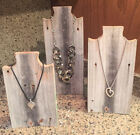 Weathered Wood Necklace Stands - Rustic Reclaimed Barn Wood -Necklace Display