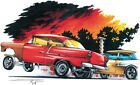 '55 Chevy Gasser Drag Race Hot Rod T-shirt Small to 5XL