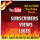 YouTube-Views-likes-subscribers-High Retention-guarantee -All in one фото