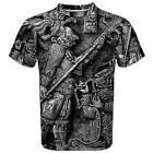 Ancient Aztec Art Sublimated Men's Sport Mesh tee T-Shirt XS-3XL Free Shipping