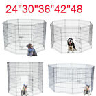 "24""30""36""42""48"" Tall Wire Fence Dog Cat Folding Exercise Yard Play Pen Black"