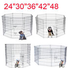 """24""""30""""36""""42""""48"""" Tall Wire Fence Dog Cat Folding Exercise Yard Play Pen Black"""