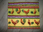 Roosters Lilacs on Yellow & Lime Microwave Baked Potato Corn Bag 9 1/2