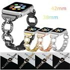 Rhinestone Alloy Link Bracelet Watch Band For Apple Watch Series 3/2/1 38mm/42mm