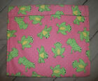 Frogs Lime Green Yellow Tummy on Pink Baked Potato Baker Bag 9 1/2