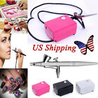 US Stock Airbrush Makeup Kit Air Compressor Beauty Nail Face Art Paint Airbrush