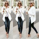 US Womens Knitted Fur Jumpers Jackets Overcoat Ladies Knitwear Cardigan Coats