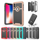 Shockproof Slim Brushed Rugged Case Cover For iPhone X 8 7 6 6s Plus 5 5s SE
