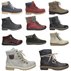 RIEKER Women's Ankle Boots Ladies LEATHER Winter Warm Sizes Shoes NEW