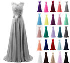 Chiffon Long Evening Party Ball Gown prom dress Bridesmaid Dresses Si