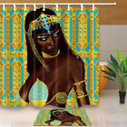 beautiful traditional bathrooms - African Beautiful Girl Bathroom Fabric Shower Curtain 71X71 Inches With Hook