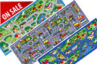 "3x7 Runner Rug Play Road Driving Time Street Car Kids City Map  Size 2'5""x6'6"""