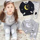 "Vaenait Baby Toddler Kids Boys Girls Clothes Pajama Set ""Good Night"" 12M-7T"