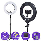 Dimmable Diva LED SMD Ring Light  Diffuser Mirror Tripod Stand Make Up Studio AU