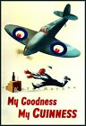 My Goodness My Guinness Airplane Vintage Poster Print Retro Style Advertising
