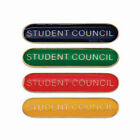 Student Council School Badge Available in 4 Colours with pin bar clasp