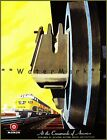 Monon Route Railroad 1950 At The Crossroads Vintage Poster Print Travel by Train