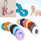 Внешний вид - Silicone Beads Pendant Baby Teether Relief Pain Ring DIY Necklace Decor Safety