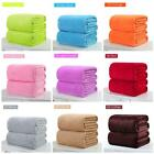 Hot Sell Super Soft Solid Warm Micro Plush Fleece Blanket Throw Rug Sofa Bedding image
