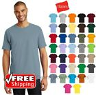 Hanes Tagless Short Sleeve T-Shirt 6oz Comfort Cotton Soft Plain Blank Tee 5250 image