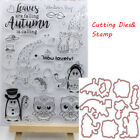 Photo Album Paper Card Cut Dies Clear Stamp Owl Embossing Stencils Scrapbooking