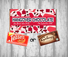 Personalised Chocolate Bar - HANGOVER CHOCOLATE - Ladies Night - Wedding - Party