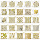Gold Plant Printed Polyester Pillow Case Cover Sofa Cushion Cover Home Decor image
