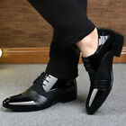 Mens Business Casual Oxford Leather Shoes Formal Dress Party Pointy Toe Loafers