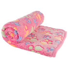Puppy Blanket Washable Soft Coral Velvet Warm Cushion Mat for Pet Hammock Bed