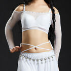 2018 Belly Dance Wear Top New Mesh Diamond Sexy Off Shoulder Transparent Strap
