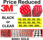 Double-Sided 3M Self Adhesive Sticker Sticky Pad Mounts Pads for Dash Cam/ GoPro