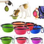 Portable Collapsible Pet Dog Silicone Bowl Food Water Dish Feeder Travel Feeding