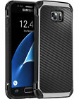 Carbon Fiber Shockproof Hybrid Hard Cover Protective Case For Samsung J7 S6 S7