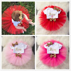 1st Birthday Girl Tutu Cake Dress Outfit It's My First Birth
