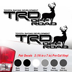 TOYOTA TRD OFF ROAD Deer Elk Tacoma Tundra Decal Sticker truck Offroad Decals g