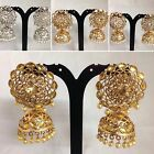 SILVER/GOLDEN PEARL JHUMKA STYLE EARRING BOLLYWOOD TRADITIONAL DESIGN JS5-904