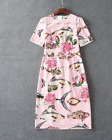 Occident style 2018 runway HOT Embroidery fish printing Slim Dress